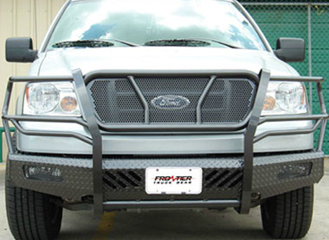 05 F150 Bumper >> Home Ford 04 05 Ford F150 Front Bumpers With Grille Guard Frontier Gear Front Bumper With Grille Guard