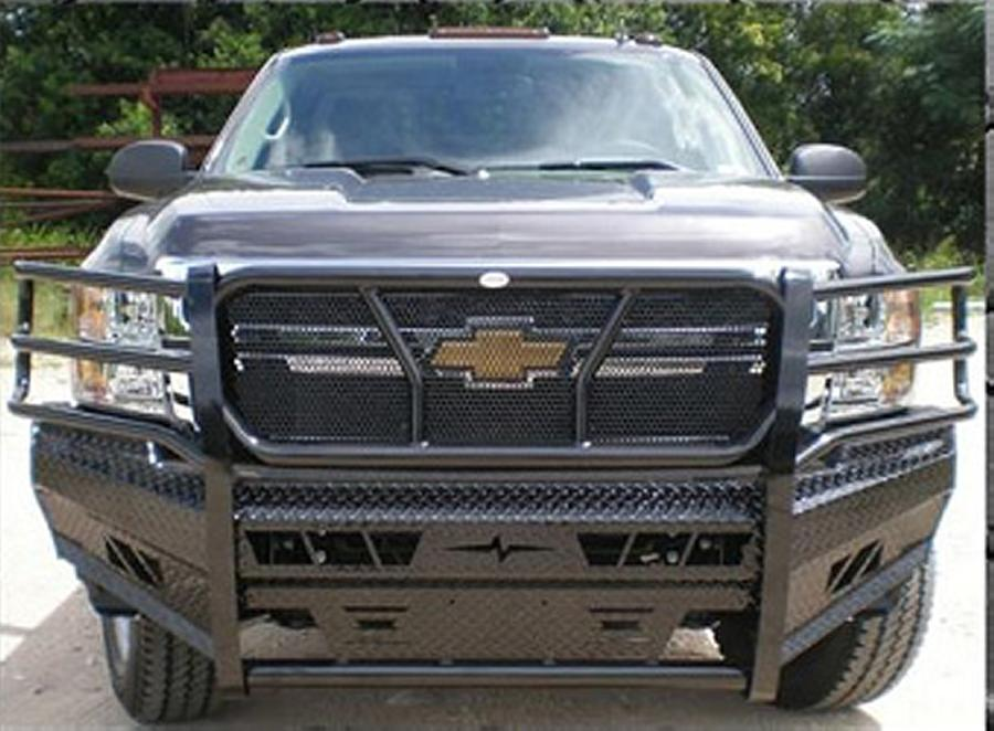 Home Chevrolet 11 14 Chevy Silverado 2500 3500 Front Bumpers With Grille Guard Frontier Gear Front Bumper With Grille Guard