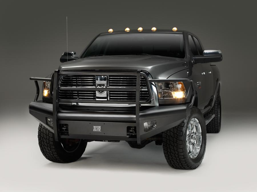 Home :: Dodge :: 06-09 Dodge Ram 2500 3500 :: Front Bumper with Grille  Guard :: Fab Fours Black Steel Elite Front Bumper with Grille Guard